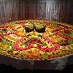Carved Fruit Display For Wedding Buffet