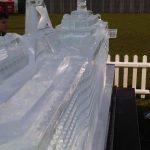 Cruise Ship ice sculpture for Virgin Voyages and Royal Carribean
