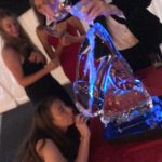 Chilly Willy Ice Sculpture Vodka Ice Luge