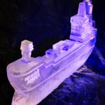 Navig8 Container Ship Ice Sculpture Vodka Luge for Lloyds Of London Event