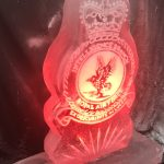 Royal Air Force military crest Ice Sculpture Vodka Luge in Chicksands and High Wycombe