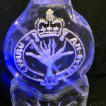 Welsh Guards Cap Badge Ice Sculpture Vodka Luge in Surrey