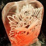 Royal Gurkha Logistics Regiment Cap Badge Ice Sculpture Vodka Luge