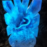 Ellise Trainers Ice Sculpture Vodka Luge Ice Carving in london