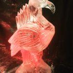 Flamingo Vodka Ice Luge Ice Sculpture