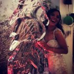 Flamingo Vodka Ice Luge Ice Sculpture For Bournemouth Wedding