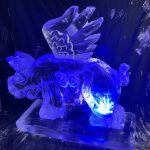 Flying Pig Ice Sculpture Vodka Ice Luge