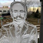 Soccer Am Live Ice Carving of Gareth Southgate for Sky Sports