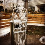 Gareth Southgate live ice sculpture for Soccer Am Xmas Special