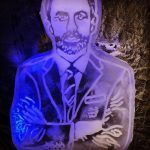 Gareth Southgate Ice Sculpture Vodka Luge Ice Carving for Sky Sports TV