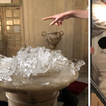Gucci Bloom Campaign photo shoot ice sculptures and ice carvings for David White Set Design and Big Sky Studios