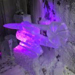 Merlin Helicopter Ice Sculpture Vodka Luge for Royal Air Force