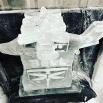 Valor Bell Flight Helicopter ice sculpture at Hurlingham Club