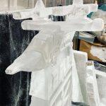 Valor Tilt Rotor Aircraft Helicopter Ice Sculpture Vodka Luge at Hurlingham Club