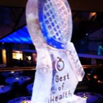 Tennis Theme Party Racket Ice Sculpture Vodka Ice Luge in Wimbledon party