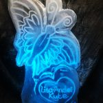 Butterfly Vodka Ice Luge Ice Sculpture For Brighton Wedding Reception