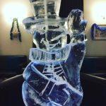Snowman Vodka Ice Luge Ice Sculpture at Tunbridge Wells Christmas Party