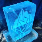 Iceberg Ice Sculpture Vodka Ice Luge for Thorney Island Barracks Party
