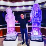 Corbyn and Boris Johnson Ice Sculpture for Good Morning Britain with Piers Morgan