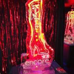 Kinki Boots Ice Sculpture Vodka Ice Luge for Encore Tickets Leicester Square