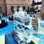 UK Fisheries Kirkella Ice Sculpture Vodka Luge Ice Carving at Greenwich Museum for RMG events