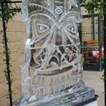 Kontiki Mask Ice Sculpture Vodka Ice Luge at Barracks Party