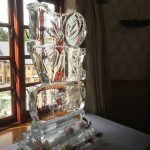 Wedding Love Vodka Ice Luge Ice Sculpture At Pennyhill Park Hotel Wedding