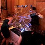 Guildford Christmas Party Snowflake Vodka Ice Luge Ice Sculpture