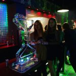Martini Glass Ice Sculpture Vodka Ice Luge for Oxford University Ball