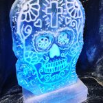 Mexican Skull Ice Sculpture Vodka Ice Luge