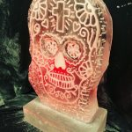 Mexican Skull Ice Sculpture Vodka Ice Luge Mexican Party