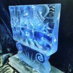 Mr & Mrs Vodka Ice Luge Ice Sculpture for Essex Wedding