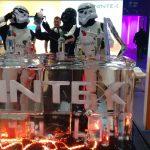NIntex Ice Sculpture Ice Bar at Excel London
