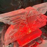 Parachute Regiment Wings Ice Sculpture Vodka Luge at Aldershot