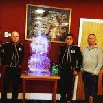 Gurkha Regiment Cap Badge Ice Sculpture Vodka Luge in Aldershot