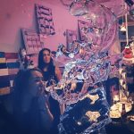 Reindeer Vodka Ice Luge Ice Sculpture for Christmas Party