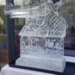 Revolver Pistol Gun Ice Sculpture Vodka Ice Luge