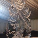 Rose Flower Vodka Ice Luge Ice Sculpture For Wedding Reception