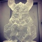 Viking Ice Sculpture Vodka Luge for Royal Anglians