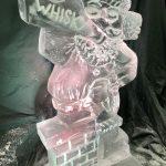 Drunk Santa Vodka Ice Luge Ice Sculpture