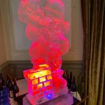 Drunk Santa Claus Vodka Ice Luge Ice Sculpture for North London Xmas Party