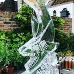 Shark Ice Sculpture Vodka Ice Luge Ice Carving