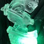 Apres Ski Party Vodka Ice Luge Ice Sculpture of a Skier
