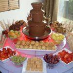 small chocolate fountain at De Vere Hotel Wedding