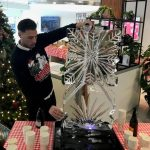 Snowflake Vodka Ice Luge Ice Sculpture for Christmas Party In Reading