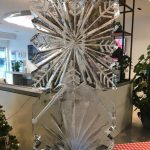 Snowflake Vodka Ice Luge Ice Sculpture at Islington Christmas Party