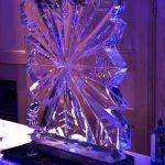 Mandolay Hotel Christmas Party Snowflake Vodka Ice Luge Ice Sculpture