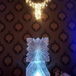 Snowflake Vodka Ice Luge Ice Sculpture For RAF Benson Mess Christmas Party