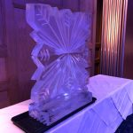 Large Snowflake Vodka Ice Luge Ice Sculpture at Mandolay Hotel Guildford