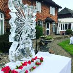 Snowflake Ice Sculpture Vodka Luge Ice Carving for Millenium and Copthorne Hotels Sussex